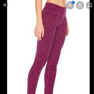 Beyond Yoga pink/maroon leggings w/ bottom detail